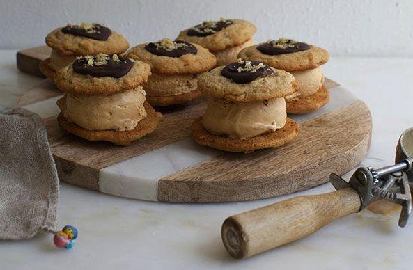 Frozen Caramel- Toffee Ice Cream Sandwich Dessert Recipes — Dishmaps