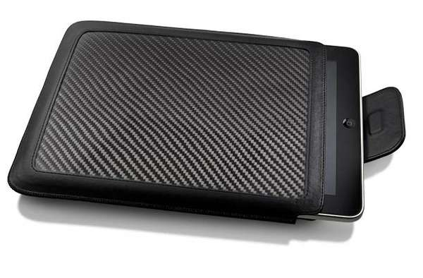 Ion CarbonJacket Carbon Fiber and Leather iPad