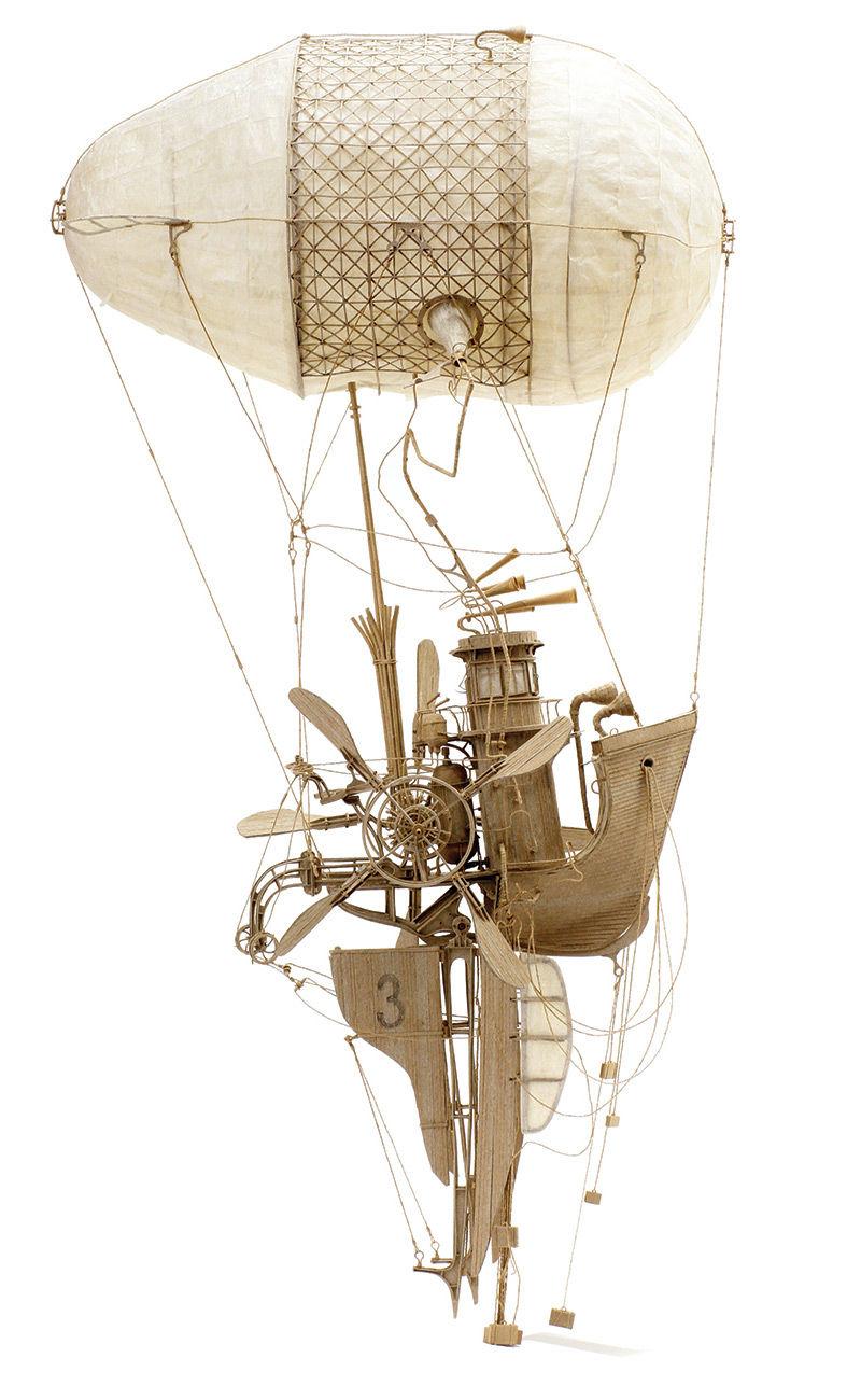 Cardboard Flying Sculptures