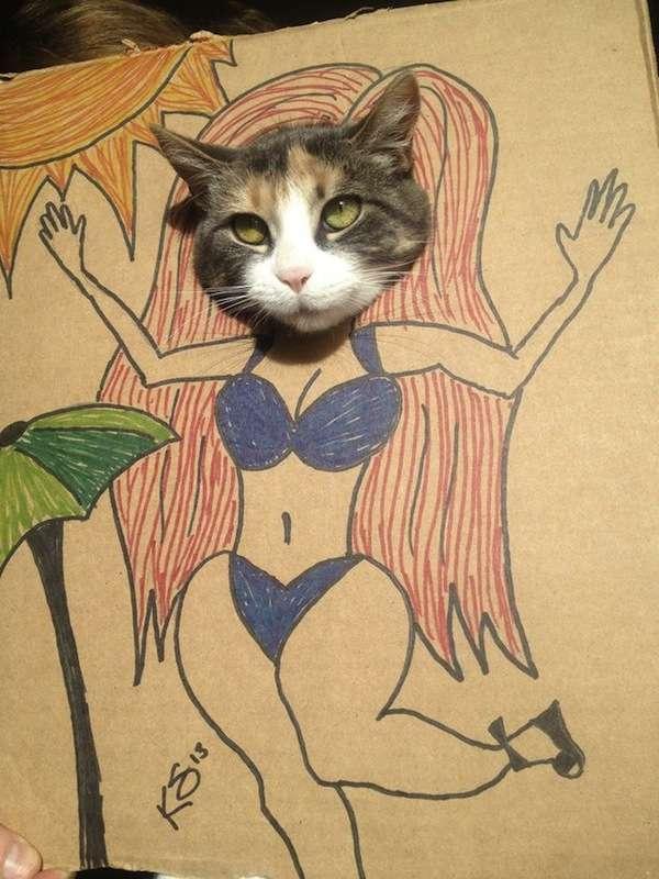 Peeping Cat Costumes