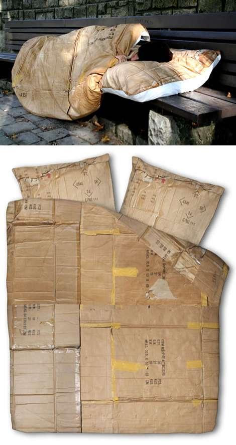 Cardboard-Inspired Bedding
