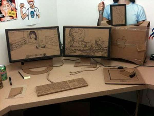 Cardboard Office Pranks