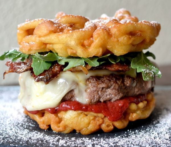 Funnel Cake Burgers