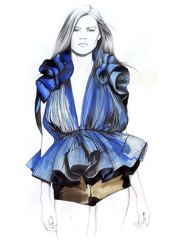 Penciled Fashion Illustrations