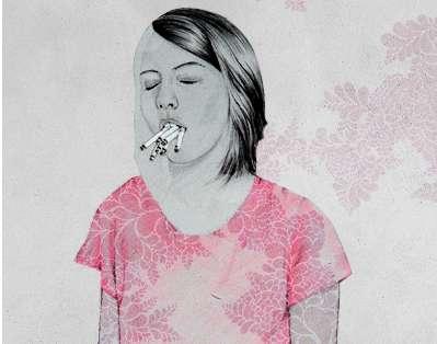 Cigarette-Gobbling Portraits