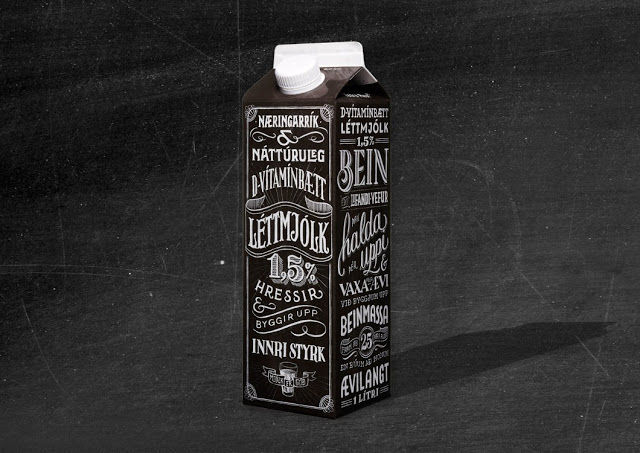 Typographic Milk Cartons