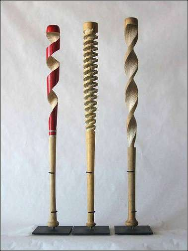Carved Baseball Bats