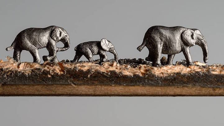 Safari Pencil Carvings