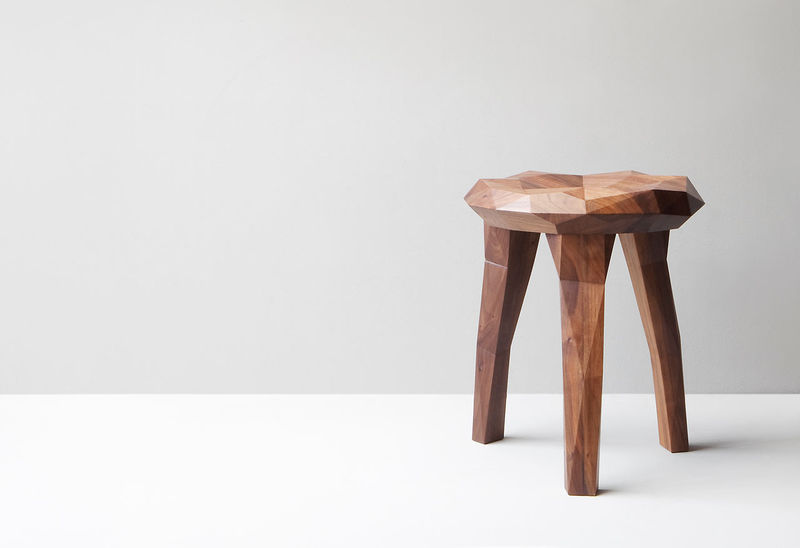 Organically Carved Stools