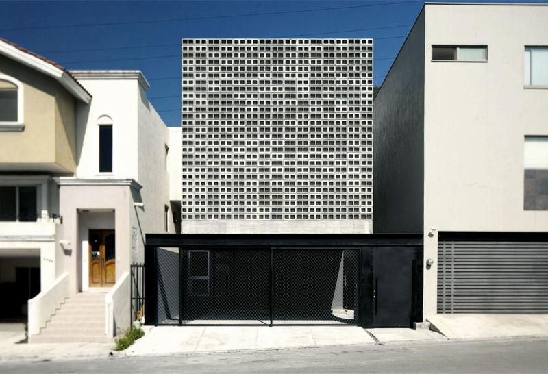 Cinder Block-Clad Houses
