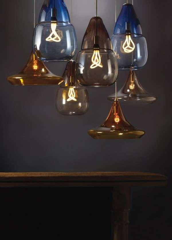 Sculptural Glass Lamps