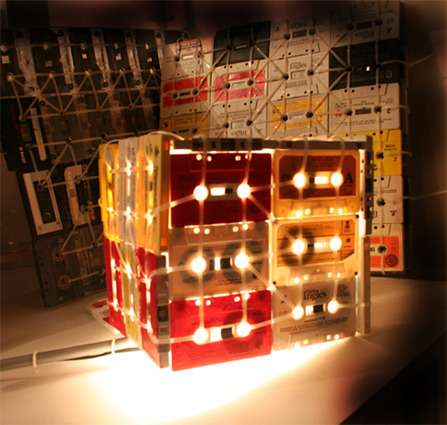 Cassette tape lamps reviving old flavor for hip home decor for Hip home decor