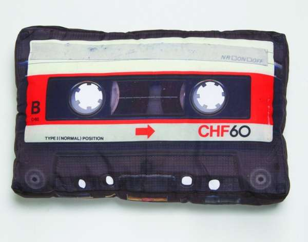 Retro Cassette Tape Pillows