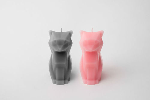 Skeletal Cat Candles
