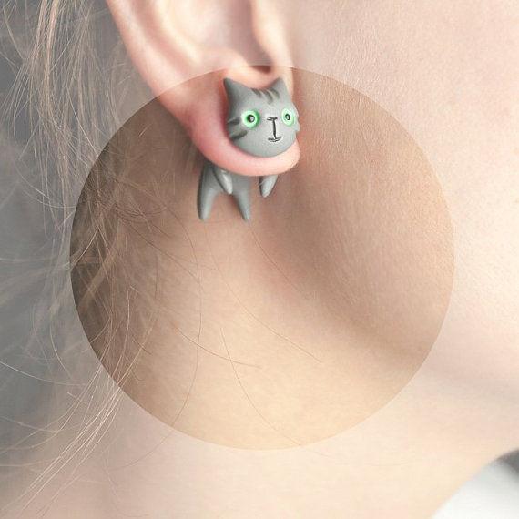Floating Feline Earrings