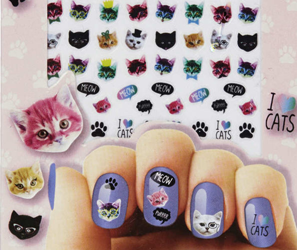Obsessed Cat Nail Art