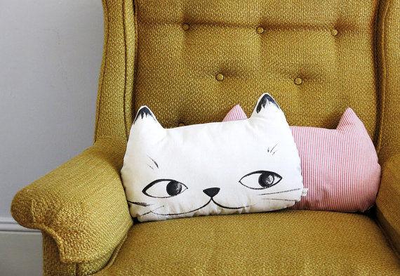 Feline Face Pillows