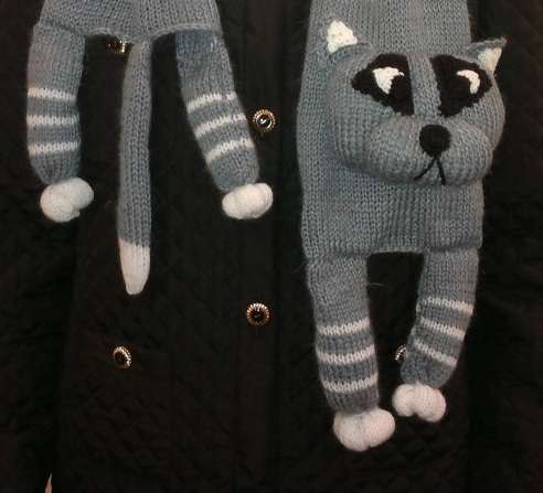 Knitted Feline Neckwear Cat Scarf