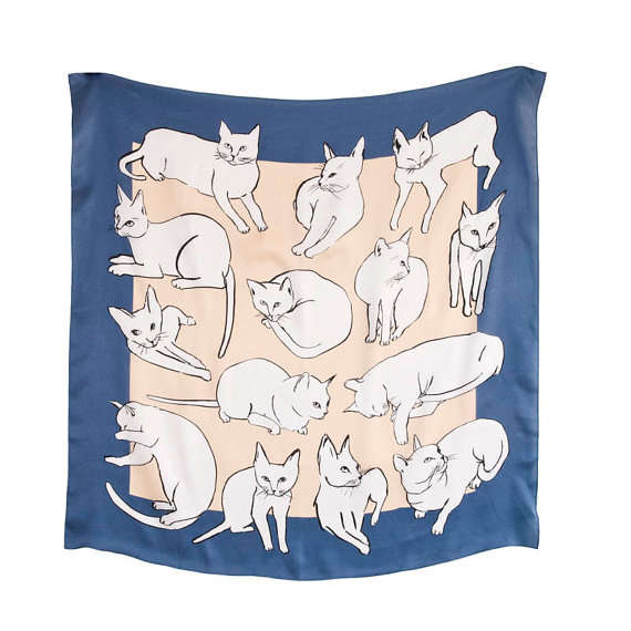 Artist-Inspired Feline Scarves