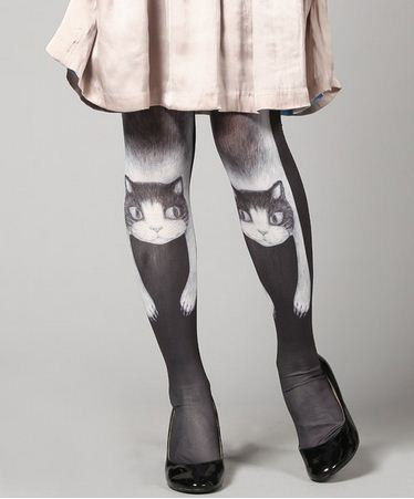 Lazy Lounging Feline Tights