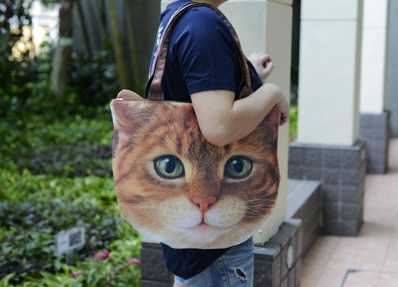 Collosal Feline Printed Totes
