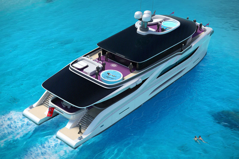 Solar Cell-Topped Catamarans