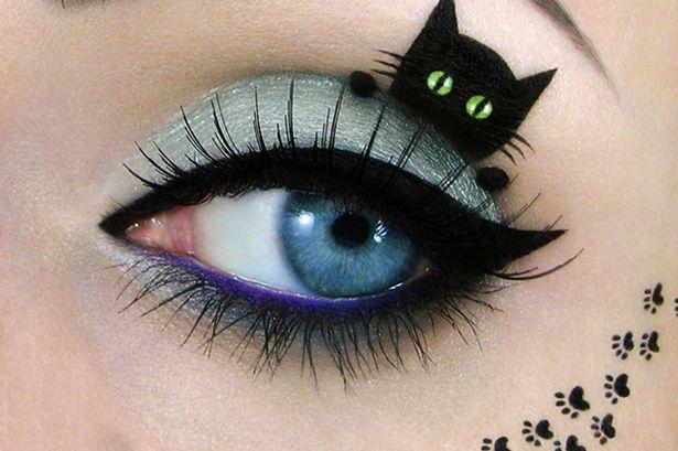 Feline-Inspired Eye Paintings