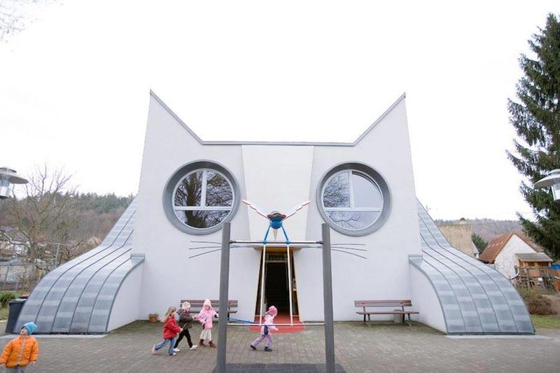 Cat-Shaped School Buildings