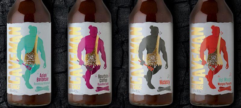 Caveman-Themed BBQ Sauces