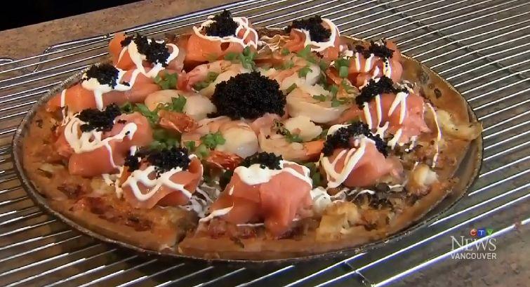 Chorizo Caviar Pizzas