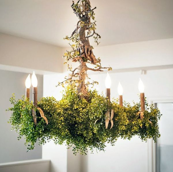 Plant-Infused Shrub Chandeliers