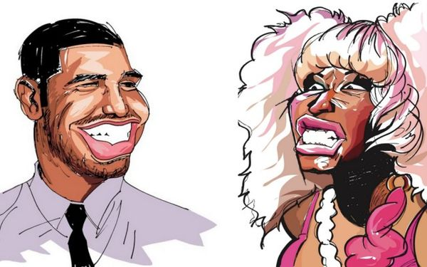 Contemporary Rap Caricatures Celebrity Drawings
