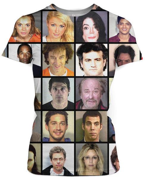 Celebrity Mugshot Shirts