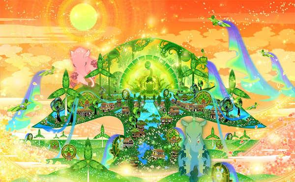 Vibrant Celestial Illustrations