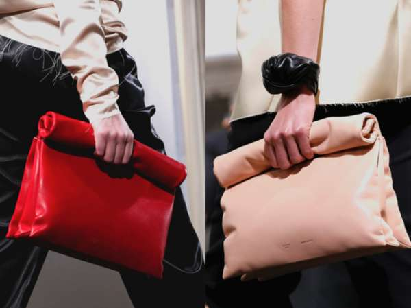 Minimalist Leather Paper Bags