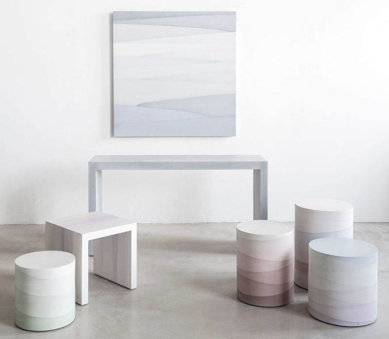 Gradient Cement Furniture