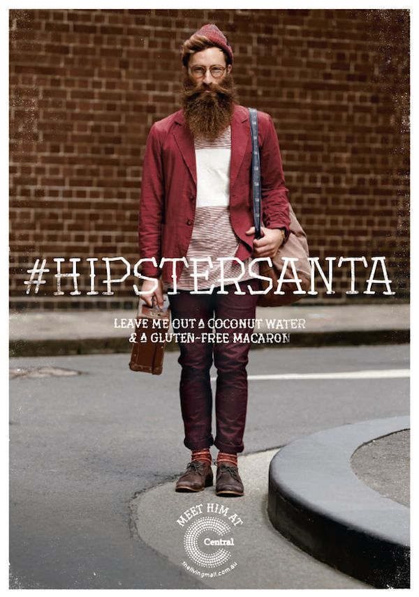 Hipsterized Holiday Icon Ads