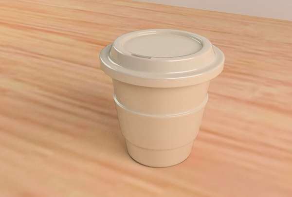 ceramic coffee papercup