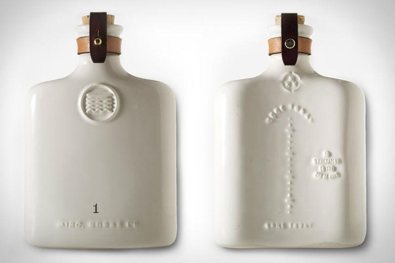 Embossed Ceramic Flasks