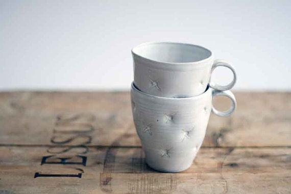 Faux Cushioned Ceramic Mugs