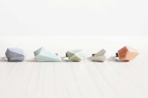 Geometric Ceramic Rings