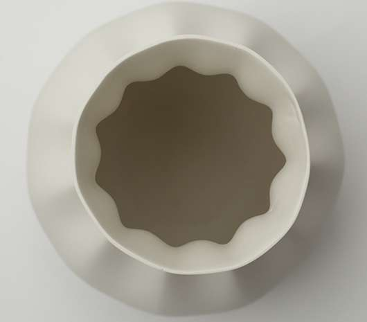 Pinched Porcelain Pottery