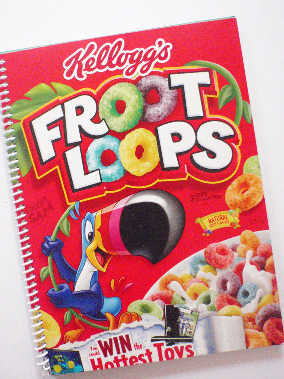 Cereal Notebook Covers