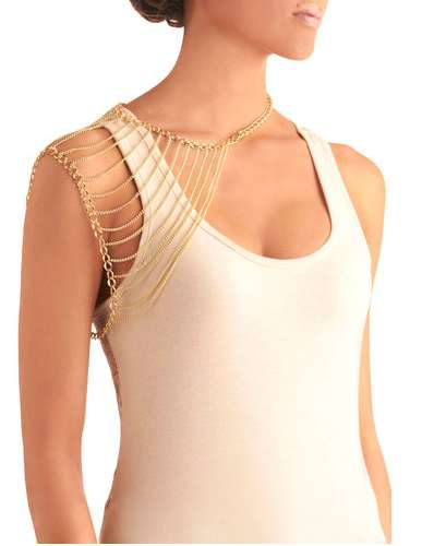 chain of pace shoulder necklace