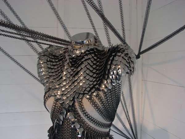 Reptilian Metal Gowns