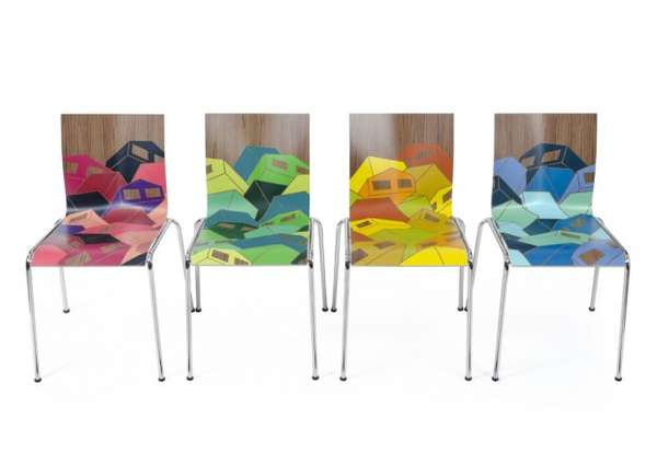 Geometric Graffiti Furnishings Chairik Chair