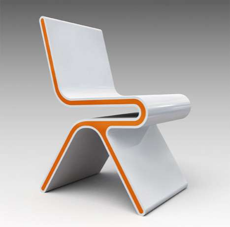 Futuristic creamsicle seats chairsforthe21stcentury for Designer chair images