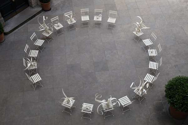 Twisted Seat Sculptures