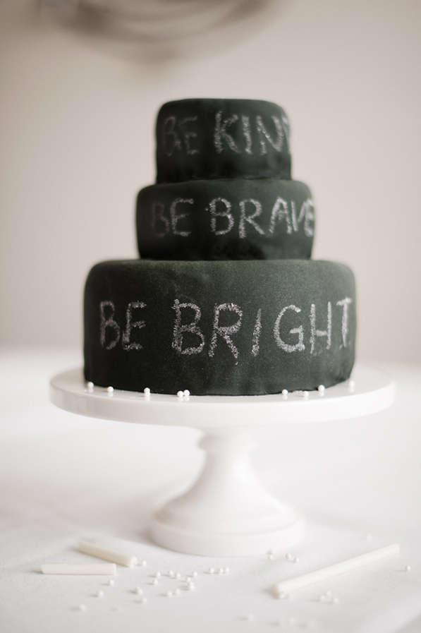 DIY Chalkboard Cakes