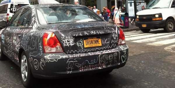 Customizable Chalkboard Cars